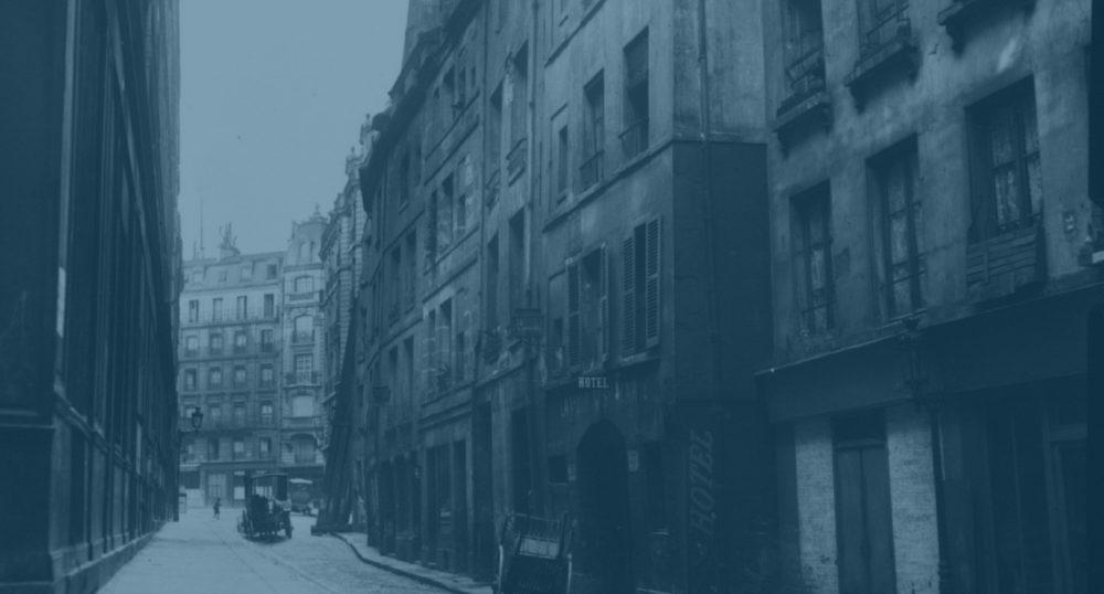 vintage photograph of paris street