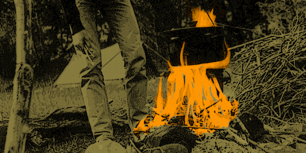 Photograph of campfire