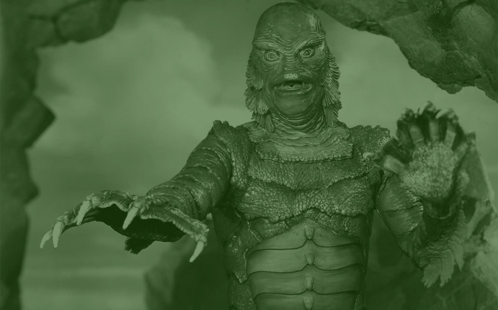 Creature from the black lagoon, green overlay